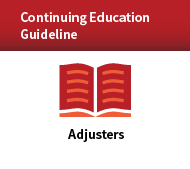 Continuing Education Guideline Program for Adjusters