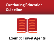Continuing Education Guideline Program for Exempt Travel Agents